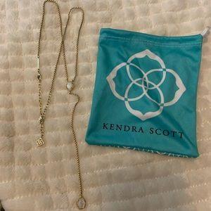 Kendra Scott Long Double Pendant Necklace